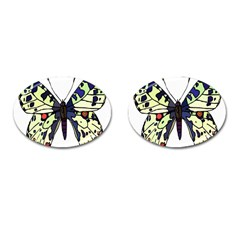 A Colorful Butterfly Image Cufflinks (Oval)