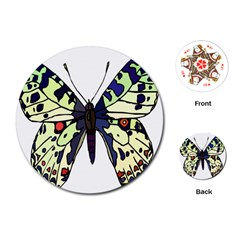 A Colorful Butterfly Image Playing Cards (round)