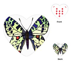 A Colorful Butterfly Image Playing Cards (Heart)