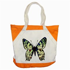 A Colorful Butterfly Image Accent Tote Bag
