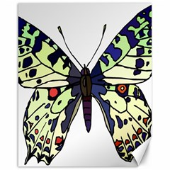 A Colorful Butterfly Image Canvas 16  X 20