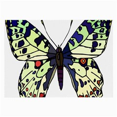 A Colorful Butterfly Image Large Glasses Cloth (2 Side)