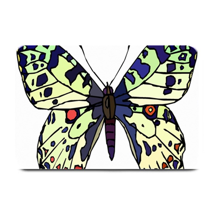 A Colorful Butterfly Image Plate Mats