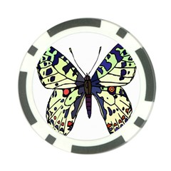 A Colorful Butterfly Image Poker Chip Card Guard