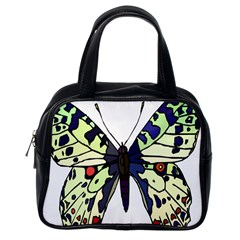 A Colorful Butterfly Image Classic Handbags (one Side)