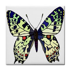A Colorful Butterfly Image Face Towel