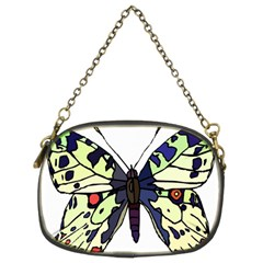 A Colorful Butterfly Image Chain Purses (two Sides)