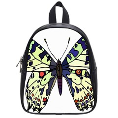 A Colorful Butterfly Image School Bags (small)
