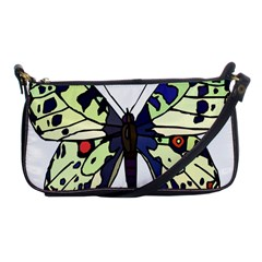 A Colorful Butterfly Image Shoulder Clutch Bags