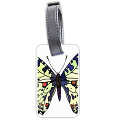 A Colorful Butterfly Image Luggage Tags (one Side)