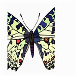 A Colorful Butterfly Image Small Garden Flag (Two Sides) Back
