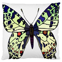 A Colorful Butterfly Image Large Cushion Case (One Side)