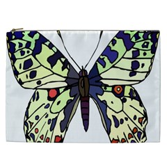 A Colorful Butterfly Image Cosmetic Bag (XXL)