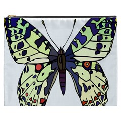 A Colorful Butterfly Image Cosmetic Bag (XXXL)