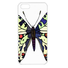 A Colorful Butterfly Image Apple iPhone 5 Seamless Case (White)