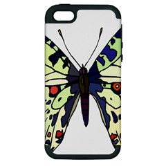 A Colorful Butterfly Image Apple iPhone 5 Hardshell Case (PC+Silicone)