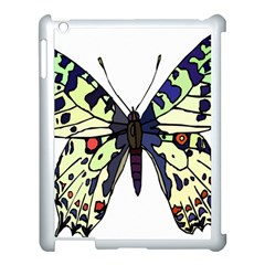 A Colorful Butterfly Image Apple iPad 3/4 Case (White)