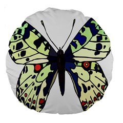 A Colorful Butterfly Image Large 18  Premium Round Cushions