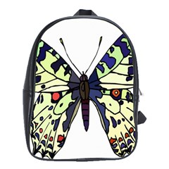 A Colorful Butterfly Image School Bags (XL)