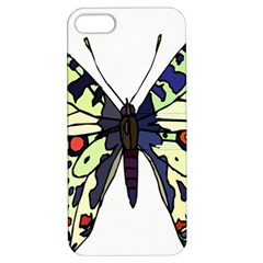 A Colorful Butterfly Image Apple iPhone 5 Hardshell Case with Stand