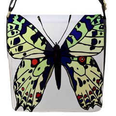 A Colorful Butterfly Image Flap Messenger Bag (S)