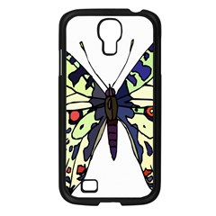 A Colorful Butterfly Image Samsung Galaxy S4 I9500/ I9505 Case (Black)