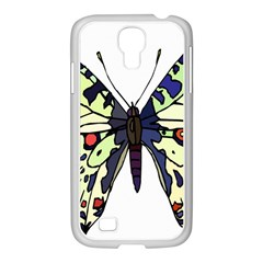 A Colorful Butterfly Image Samsung GALAXY S4 I9500/ I9505 Case (White)