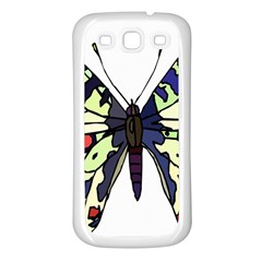 A Colorful Butterfly Image Samsung Galaxy S3 Back Case (White)