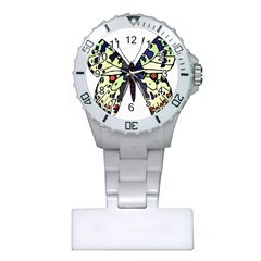 A Colorful Butterfly Image Plastic Nurses Watch