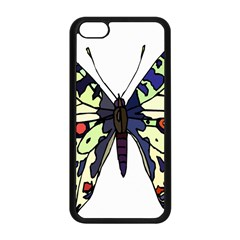 A Colorful Butterfly Image Apple iPhone 5C Seamless Case (Black)