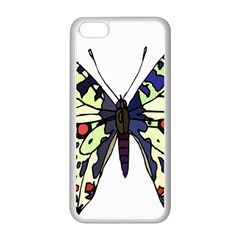 A Colorful Butterfly Image Apple iPhone 5C Seamless Case (White)