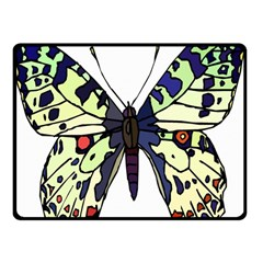 A Colorful Butterfly Image Double Sided Fleece Blanket (Small)
