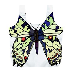 A Colorful Butterfly Image Full Print Recycle Bags (L)