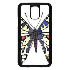 A Colorful Butterfly Image Samsung Galaxy S5 Case (black)