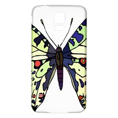 A Colorful Butterfly Image Samsung Galaxy S5 Back Case (White)