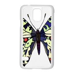A Colorful Butterfly Image Samsung Galaxy S5 Case (white)