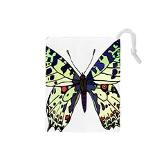 A Colorful Butterfly Image Drawstring Pouches (Small)