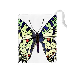 A Colorful Butterfly Image Drawstring Pouches (Medium)