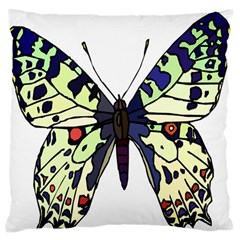 A Colorful Butterfly Image Large Flano Cushion Case (Two Sides)