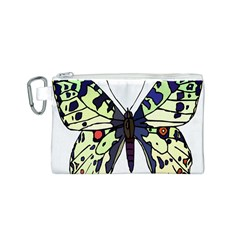 A Colorful Butterfly Image Canvas Cosmetic Bag (s)