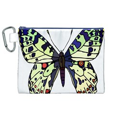 A Colorful Butterfly Image Canvas Cosmetic Bag (XL)
