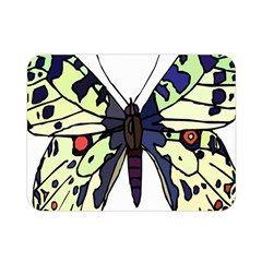 A Colorful Butterfly Image Double Sided Flano Blanket (Mini)