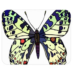 A Colorful Butterfly Image Double Sided Flano Blanket (Medium)