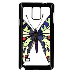 A Colorful Butterfly Image Samsung Galaxy Note 4 Case (black)