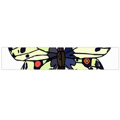 A Colorful Butterfly Image Flano Scarf (Large)