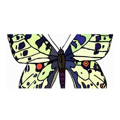 A Colorful Butterfly Image Satin Wrap