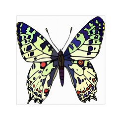 A Colorful Butterfly Image Small Satin Scarf (Square)
