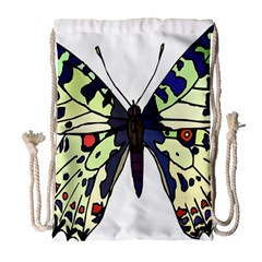A Colorful Butterfly Image Drawstring Bag (large)