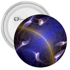 Fractal Magic Flames In 3d Glass Frame 3  Buttons