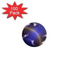 Fractal Magic Flames In 3d Glass Frame 1  Mini Magnets (100 Pack)